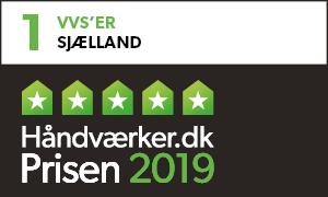 Ib Nordmark VVS blev i 2018 og 2019 kåret til Region Sjællands Bedst Anbefalede VVS'er, vi er blevet valgt af vores kunder